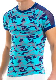 Modus Vivendi Camo C-Through T Shirt Aqua