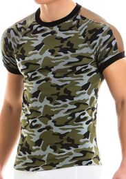 Modus Vivendi Camo C-Through T Shirt Khaki