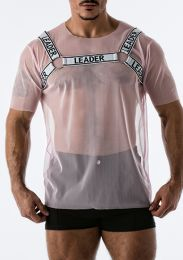 Leader Mesh Harness T Shirt Pink