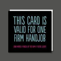 Hand Job (BF0357) Birthday Card