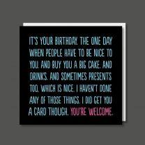 Waffling (BF0375) Birthday Card