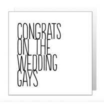 Congrats Gays (BF0324) Greeting Card