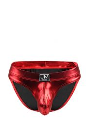 Jockmail Faux Leather Brief Red