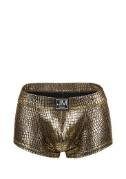 Jockmail High Reflective Embossed Boxer Gold