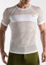 Code 22 Mesh T Shirt White