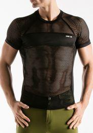 Code 22 Mesh T Shirt Black
