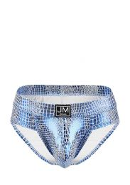 Jockmail Reflective Embossed Brief Blue