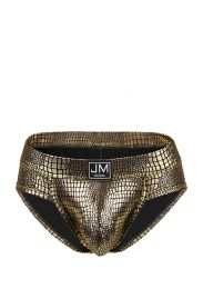 Jockmail Reflective Embossed Brief Gold