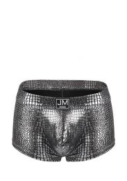 Jockmail High Reflective Embossed Boxer Silver