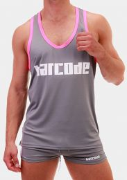 Barcode Berlin Tank Top EFIM Grey Pink