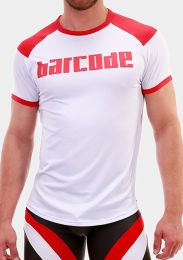 Barcode Berlin T Shirt Grisha White Red