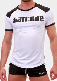 Barcode Berlin T Shirt Grisha White Black