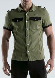 Code 22 Stretch Shirt Khaki