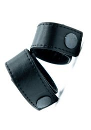 ruff GEAR Leather Cock & Ball Double Strap
