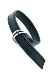 ruff GEAR Leather Cock & Ball Ring D Strap