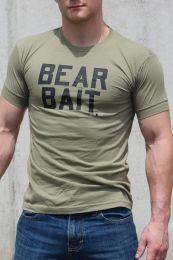 Ajaxx63 Bear Bait T Shirt  Military Green