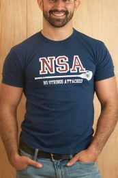 Ajaxx63 NSA No Strings Attached T Shirt Navy