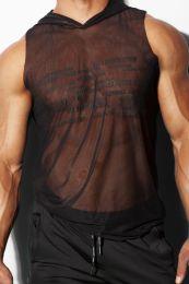 Alexander Cobb Saharha Mesh Tank Top Hoodie Black