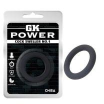 Gk Power Cock Sweller No1 Cock Ring Black