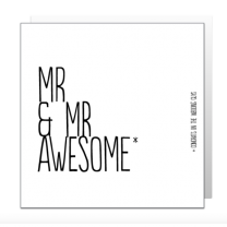 Mr & Mr Awesome (BF0328) Greeting Card
