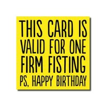 Fisting (BAB41) Birthday Card