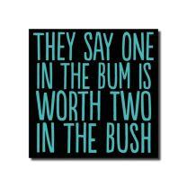 One In The Bush (BAB45) Birthday Card