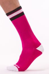 Barcode Berlin Fashion Socks Paris Pink White Black