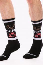 Barcode Berlin Gym Socks Big Bear Black White