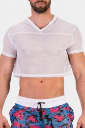 Barcode Berlin Mesh T Shirt Ferry White