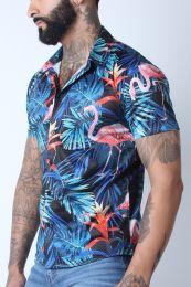 Timoteo Riviera Mesh Shirt Flamingo Black