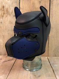 Mr S Leather Neoprene Puppy Hood Black Navy