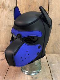 Mr S Leather Neoprene Puppy Hood Black Purple