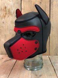 Mr S Leather Neoprene Puppy Hood Black Red