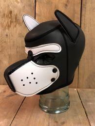 Mr S Leather Neoprene Puppy Hood Black White