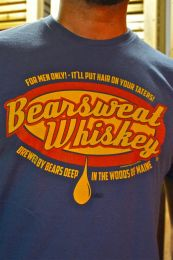 Burly Shirts Bear Sweat T Shirt Denim