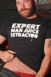 Burly Shirts Man Juice Extractor T Shirt Black