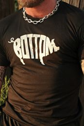 Burly Shirts Pig Bottom T Shirt Black