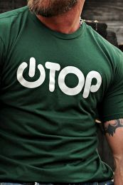 Burly Shirts Power Top T Shirt Green