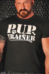 Burly Shirts Pup Trainer T Shirt Black