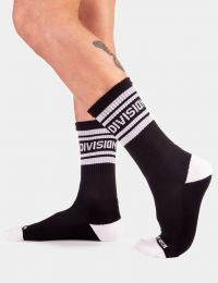 Barcode Berlin Camp Socks Division Black White