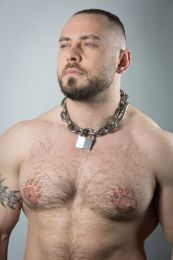 ruff GEAR Pitbull Chain 8mm with 40mm Master Lock