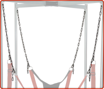 RED Stainless Steel Chain Set