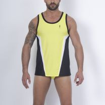 Leader A Contour Tank Top Yellow