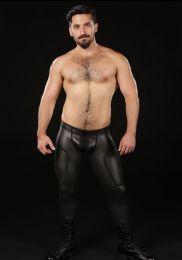 Mr S Leather Neoprene Cyber Pant Black