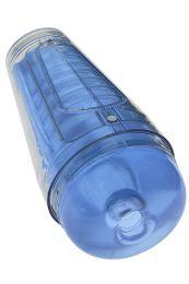 Doc Johnson Main Squeeze Optix Crystal Blue Masturbator