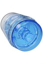 Doc Johnson Main Squeeze Pop Off Optix Crystal Blue Masturbator