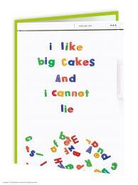 I Like Big Cakes (EWCC005) Birthday Card