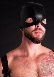 ruff GEAR Leather Executioner Hood Black