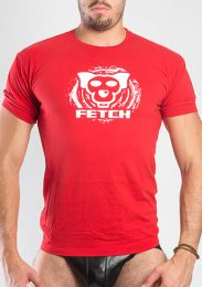 FETCH Logo T Shirt Red