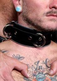 Fetters USA Leather Locking Bondage Collar
